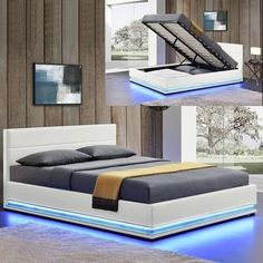 modern adult bed with leds Living Furniture, Cool Furniture, Outdoor Furniture Sets, Outdoor Decor, Transforming Furniture, Reupholster Furniture, Repurposed Furniture, Lighting Design, Couch