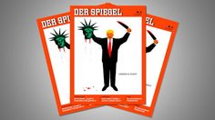 Trump 'beheads' Lady Liberty in controversial Der Spiegel magazine cover Magazin Covers, Liberty, Magazine, Caricatures, Lady, Politics, Shoe, Image, Cape Clothing