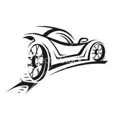 Vector Car Car vector 391460 - by alexkava on VectorStock® Car Silhouette, Silhouette Vector, Egyptian Drawings, Car Logo Design, Graphic Design, Cool Car Drawings, Design Vector, Line Art Vector, Car Vector