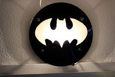 Batman-Schallplatten-Lampe Batman Vinyl-Lamp DIY