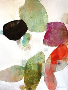 Meredith Pardue, Kapalua Flora IV  2012, Ink, oil, oil crayon, and charcoal on paper