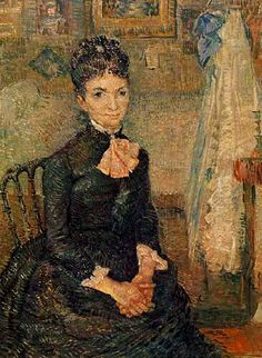 Woman Sitting by a Cradle | Vincent Van Gogh | oil painting