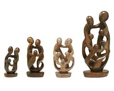 Family soapstone sculpture