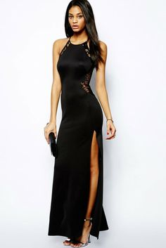 Cheap maxi gown, Buy Quality lace dress directly from China sexy lace dress Suppliers: 2017 Summer Side Slit Sexy Lace Dresses Sleeveless Maxi Gown Side Cut Lace Black Gothic Dress Long Evening Gowns Dresses Robe XL Sexy Lace Dress, The Dress, Dress Long, Black Gothic Dress, Dress Black, Side Slit Dress, Club Dresses, Formal Dresses, Party Dresses