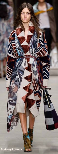 Burberry Prorsum Fall 2014 - Native Inspired