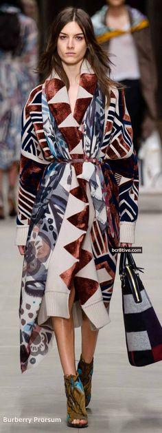 Burberry Prorsum Fall 2014 - Native Inspired