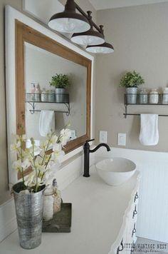 Znalezione obrazy dla zapytania bathroom lighting ideas