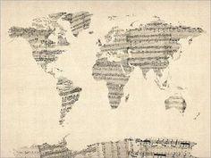 El mundo es una partitura musical.