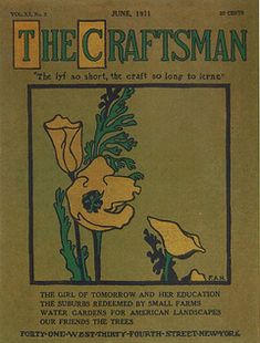 """""""The Craftsman"""" was a magazine founded by Gustav Stickley in 1901 which featured house designs that created the American Craftsman architectural style."""