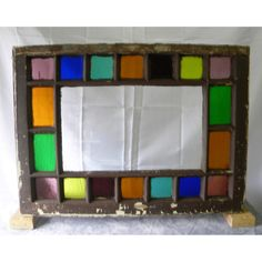 Antique Cottage Glass Window