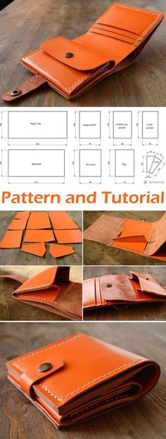 Genuine Leather Wallet Tutorial is part of Genuine Leather Wallet Tutorial Diy Tutorial Ideas - How to Make a Wallet out of Genuine Leather DIY Tutorial Leather Purses, Leather Handbags, Leather Purse Diy, Handmade Leather Wallet, Men's Leather Wallets, Womens Leather Wallet, Leather Pouch, Leather Bag Pattern, Leather Bag Tutorial