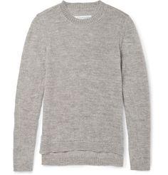 Maison Martin Margiela - Mélange-Knit Wool Sweater|MR PORTER