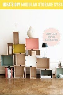 Repurpose boxes and crates for modular bookshelves and eye-popping storage displays. | 21 Cheap And Easy Decorating Tricks For Renters