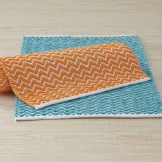 Wave Bath Rug - Wonderfully soft and richly textural.