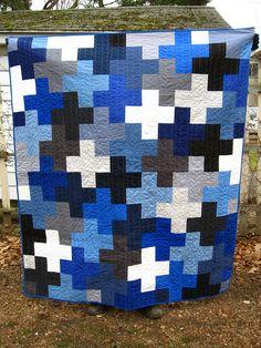 Blue Plus Quilt nice boys quilt