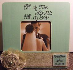Personalized wedding frame quote couples love frame wedding anniversary gift frame for wedding pic boyfriend girlfriend fiance aqua blue