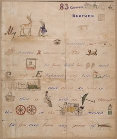 illustrated letter by J E Millais to the Lemprière family (Sir John Everett Millais, English painter and illustrator and one of the founders of the Pre-Raphaelite Brotherhood)
