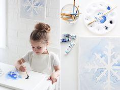 LPM | Watercolor Snowflake Art