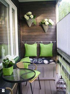 Jak urządzić balkon? - ciekawe pomysły na aranżację przestrzeni balkonowych - Mały taras - zdjęcie od MartaWieclawDesign