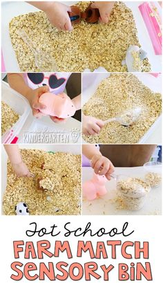 This farm animal match sensory bin was fun for little hands to explore. Perfect for a farm theme in tot school, preschool, or the kindergarten classroom.