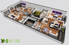 3d interior floor plan Design | 3 D plans and houses | Pinterest ...