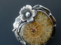 Original Sterling Silver Fossil Ring  Handmade by fishsilver, $110.00
