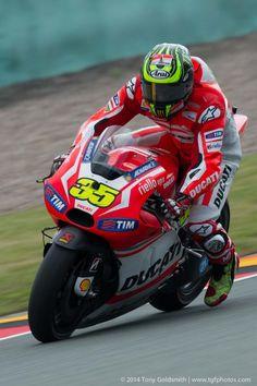 Cal on the brakes German GP 2014. Tony Goldsmith Photo