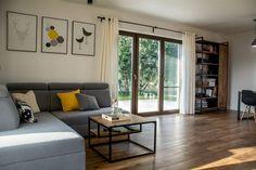 Ceglane wnętrza Elizy i Tomka! - Kocham urządzanie - bo mamy serce do wnętrz Couch, Interior, Room, Furniture, Home Decor, Home Layouts, Blue Prints, Bedroom, Settee