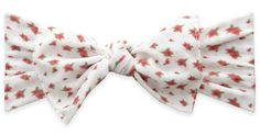 Baby Bling White Ditsy Floral Printed Knot Headband