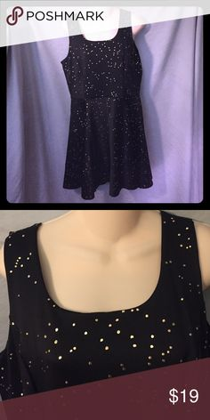 Black/gold party dress Black fit and flare dress NWT. Dresses
