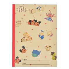 Introducing Disney's Tsum Tsum Disney characters B5 notebook. Official Disney Character Goods Store. Fashion, merchandise, toys, stationary and many other types of goods available. Also great for ordering presents and gifts online.