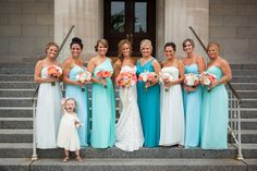 Mix and Match your Maids in Shades of Blue #DMCWeddings