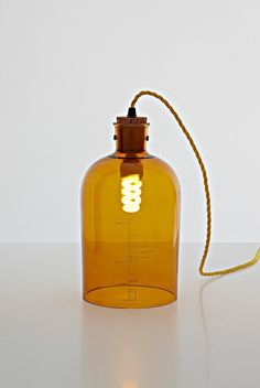 Recycle wine bottles into pendant lamps #DIY #Recycle #wine #glass #bottles by anastasia