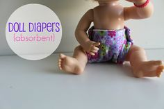 eat.sleep.MAKE.: CRAFT: Doll Diapers (Absorbent)