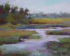 Wetlands with Creek Landscape 8x10 by KarenMargulisFineArt on Etsy, $125.00