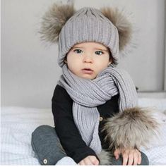 52736298 7 Best Pom Pom Beanie And Scarf Baby Set images in 2018 | Baby set ...