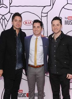 Boyce Avenue Alejandro, Daniel and Fabian Manzano of Boyce Avenue attend the 2013 YouTube Music awards at Pier 36 on November 3, 2013 in New...