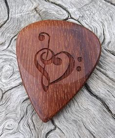 Mexican Granadillo - Handmade Premium Laser Engraved Wood Guitar Pick - Actual Pick Shown - No Stock Photos