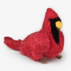 The Au Gres Sheep Factory: Needlefelt Ornaments: Cardinal