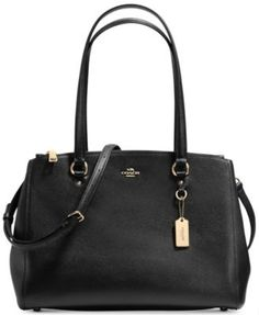COACH STANTON CARRYALL IN CROSSGRAIN LEATHER Handbags   Accessories - Macy s 5d45ef6cd5d21