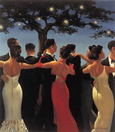 Jack Vettriano Waltzers oil painting