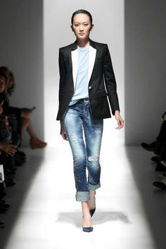 nothing revolutionary about this look, but boy does it work for me.  - pierre balmain spring 2013