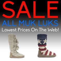 Cyber Monday Sale!  All Muk Luks Are On Sale!  Guaranteed Lowest Prices On The Web!  #Slippers #MukLuks #CyberMonday #SALE  Shop Now! // http://www.slippers.com/c/d/