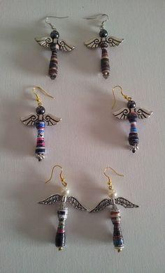 1) orecchini angeli - tecnica paper beads