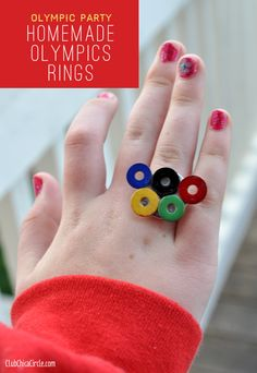 Olympics Rings Homemade Jewelry craft for tweens