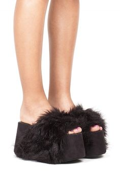 Jeffrey Campbell Shoes MONSTER New Arrivals in Black Suede Combo