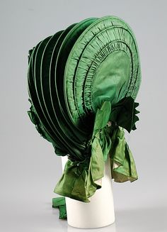 Calash  Date: ca. 1830 Culture: American Medium: Silk Credit Line: Brooklyn Museum Costume Collection at The Metropolitan Museum of Art, Gift of the Brooklyn Museum, 2009; Gift of Mrs. M.R. Werner, 1955