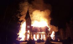 Church on fire in Finland Southern Gothic, Dark Photography, Grunge Photography, Angel Of Death, Christian Life, Christian Living, Aesthetic Pictures, Finland, Burns