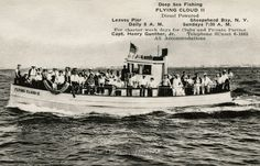FLYING CLOUD II, Sheepshead Bay, Brooklyn, NY – 1930 Lobster Fishing, Deep Sea Fishing, Brooklyn, Sailing, Boat, Clouds, Sunset, Candle, Dinghy