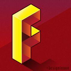 Isometric F. #illustrator #isometric #f